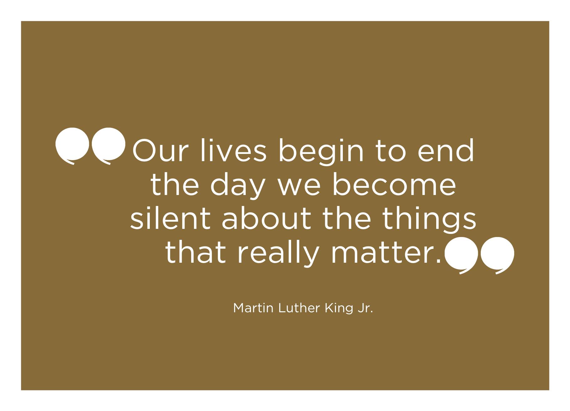 MLK on having a voice