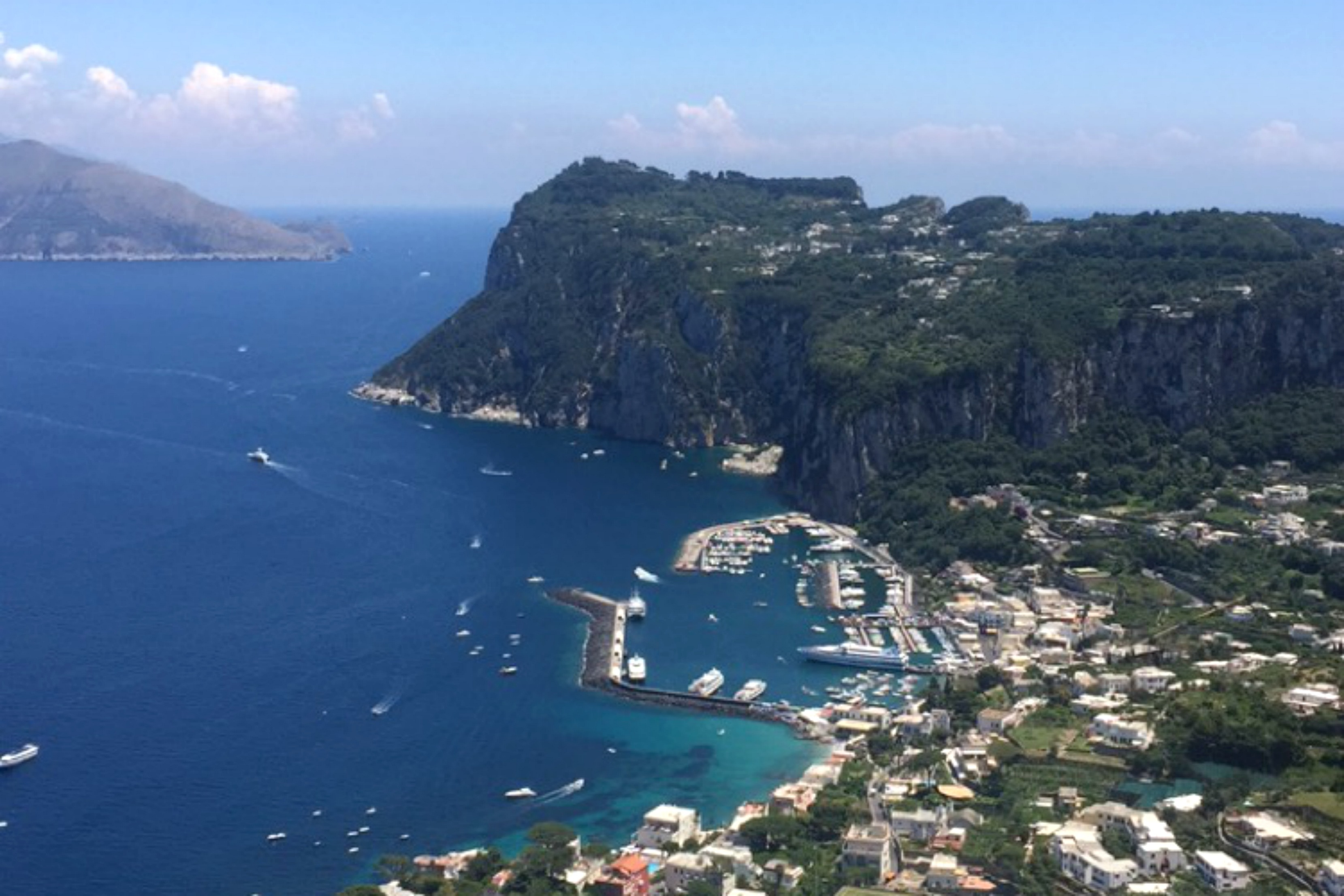 capri from above, love from capri